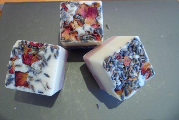 Badewürfel Lavendel Rose